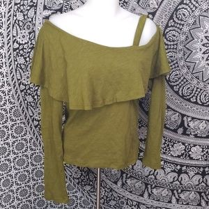 NWOT off shoulder asymmetrical Anthro top small
